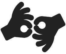 American Sign Language Interpreting Icon