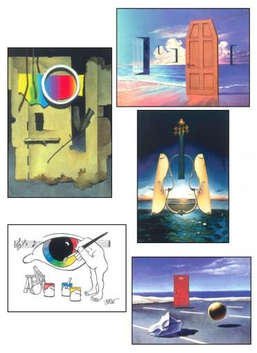 Deaf Art Note Cards: Works of Harry R. Williams - Set 5