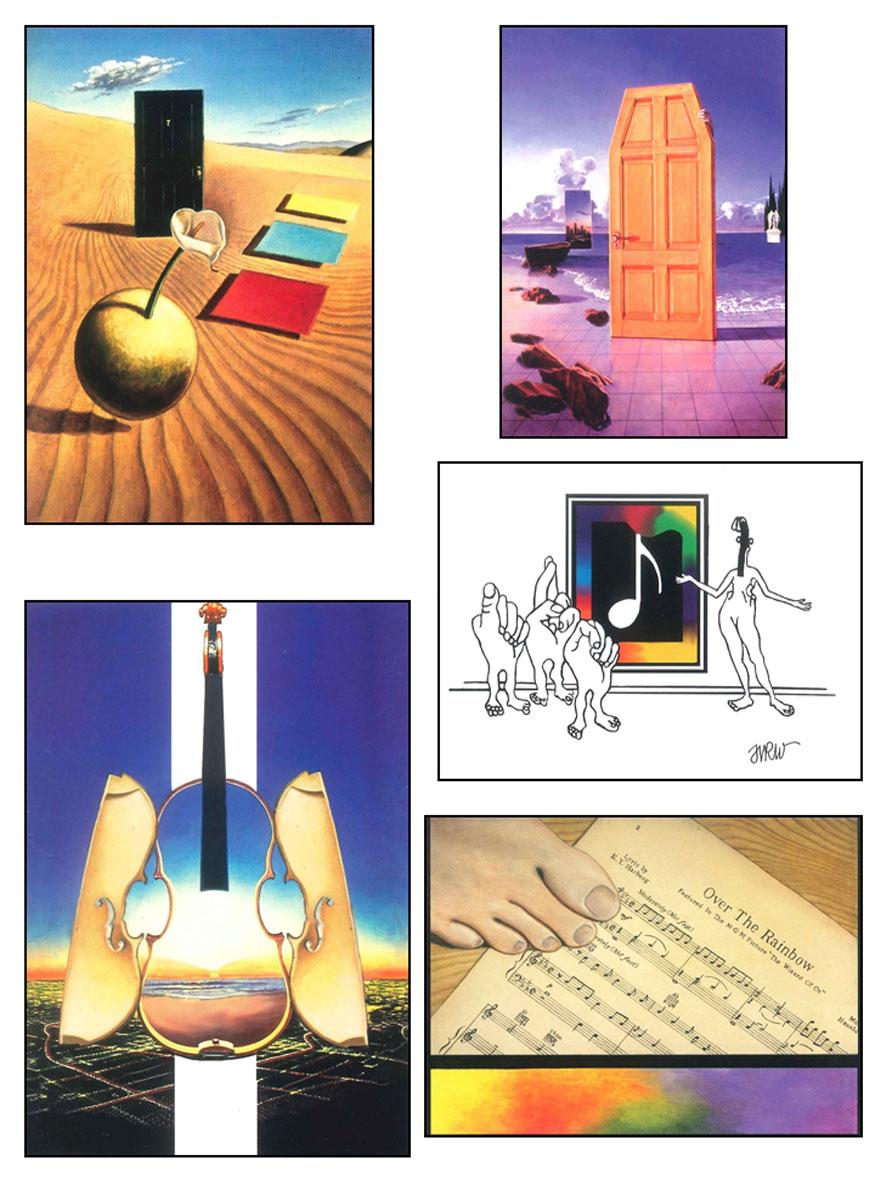 Deaf Art Note Cards: Works of Harry R. Williams - Set 6