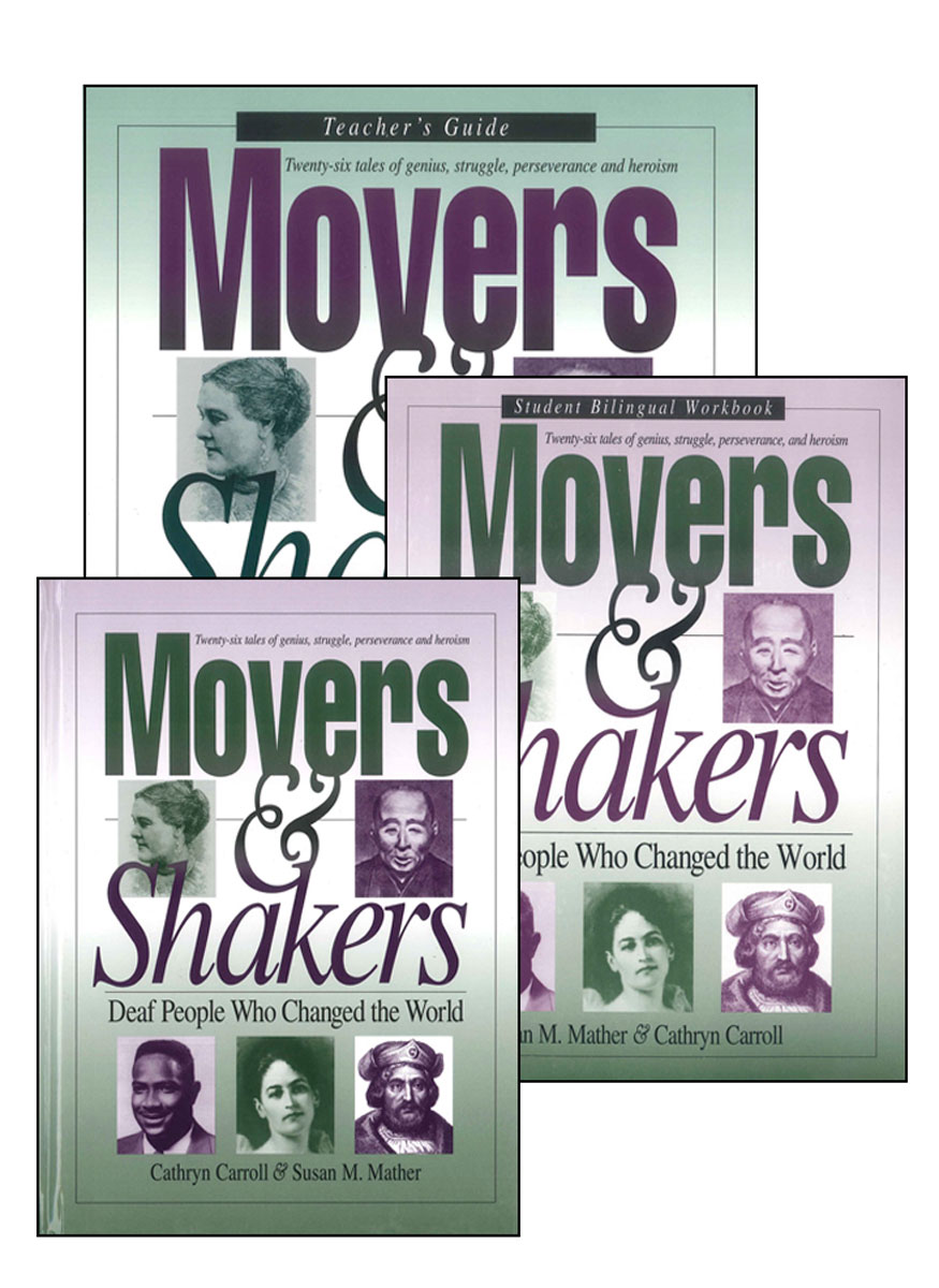 Movers & Shakers: Deaf People Who Changed the World (Teacher's Set)