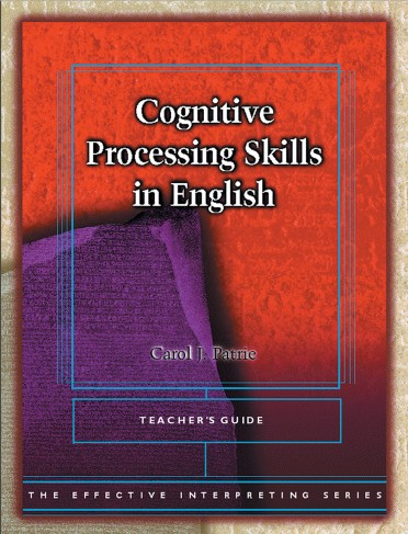 The Effective Interpreting Series: Cognitive Processing Skills in English - Teacher's Set