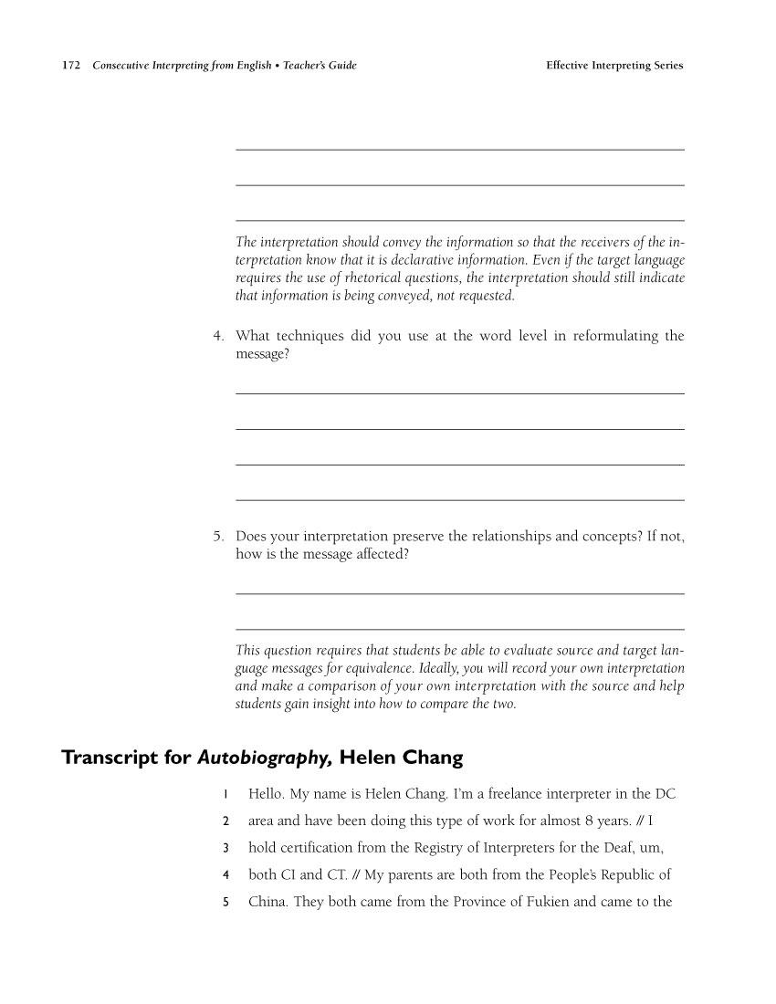 The Effective Interpreting Series: Consecutive Interpreting from English - Teacher's Set