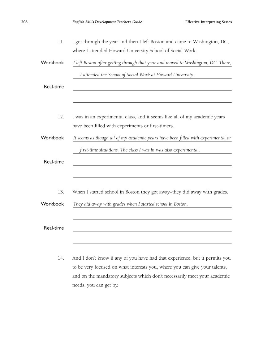 The Effective Interpreting Series: English Skills Development - Teacher's Set